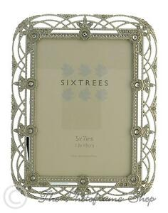 Sixtrees-Alice-Vintage-Shabby-Chic-silver-photo-frame-with-beads-amp-crystals-7x5