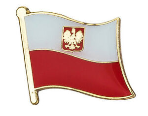 Poland Polska Flag Lapel Pin Badge