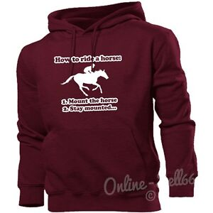 How To Ride A Horse Hoodie Women Men Kid Riding Clothing