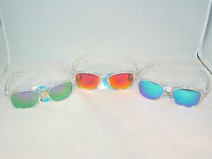 CHOOSE-LENS-COLOR-CLEAR-PLASTIC-SQUARE-FRAME-SUNGLASSES-SPRING-TEMPLES