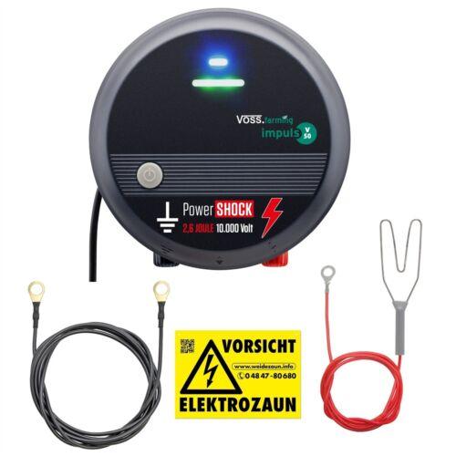 Power Weidezaungerät 230V impuls V50 Elektrozaungerät Pferdezaun Paddock