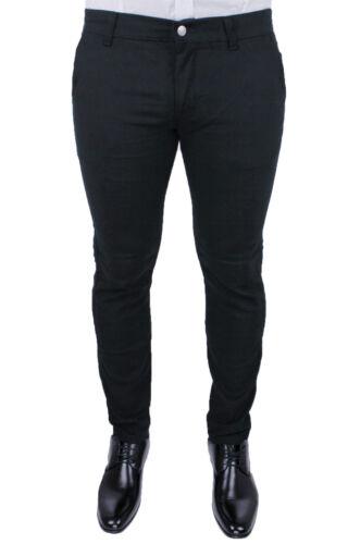Men/'s Trousers Winter Battistini Jeans Sartoriale Slim Fit Tight Black