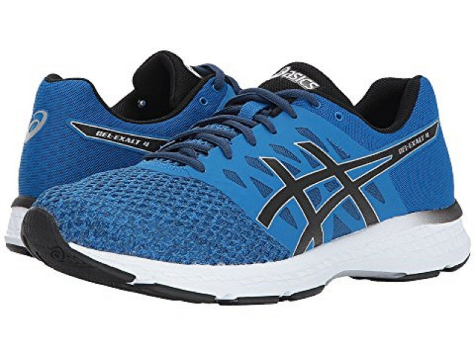 ASICS Men's GEL-EXALT 4 Running Shoes (T7EON) BLUE/BLACK/BLUE/WHT Sz. 13 M NIB