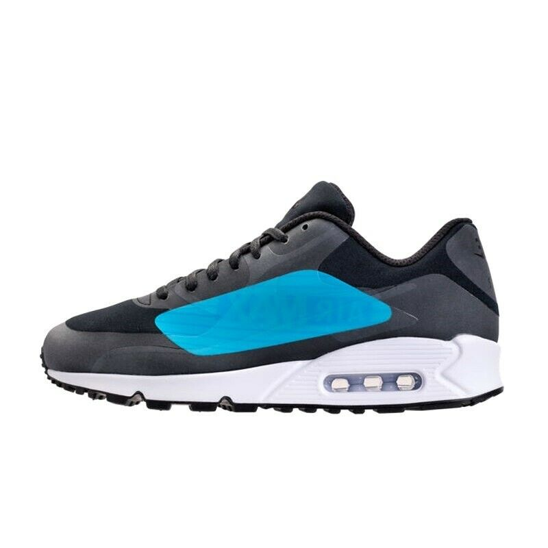 NIKE AIR MAX 90 NS GPX Trainers - Big Logo - Laser bluee - Size UK 7.5 (EUR 42)