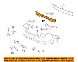 Acura HONDA OEM 09-14 TSX Bumper Face-Foam Impact Absorber Bar 71570TL2A00