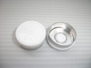 1000-WHITE-PLASTIC-FLIP-LIDS-FOR-20MM-VIAL-BOTTLES-FLIP-OFF-WRITING-ON-TOP