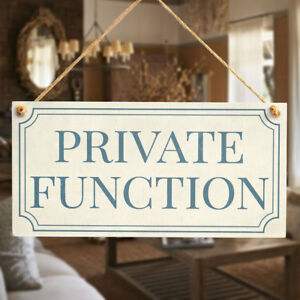 Details About Private Function Shabby Chic Style Privacy Sign Plaque For Home Office Study