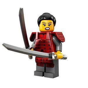 LEGO Minifigures Series 13 Japanese Samurai woman with 2 swords -suit ninja sets