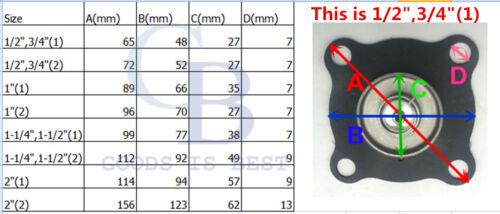 "Diaphragm for 1//2/"" 3//4/"" Solenoid Valve Brass Stainless Steel Viton Seal"
