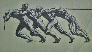 Grande-etude-La-Force-La-chaine-encre-et-fusain-Guiraud-Riviere-nu-masculin