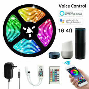 5M-RGB-LED-Smart-Home-WIFI-Strip-Light-App-Control-Waterproof-Lamp-For-Alexa