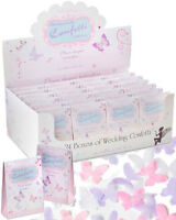 24 BOXES BIODEGRADABLE WEDDING CONFETTI PAPER BUTTERFLY SHAPED -  DISPLAY BOX