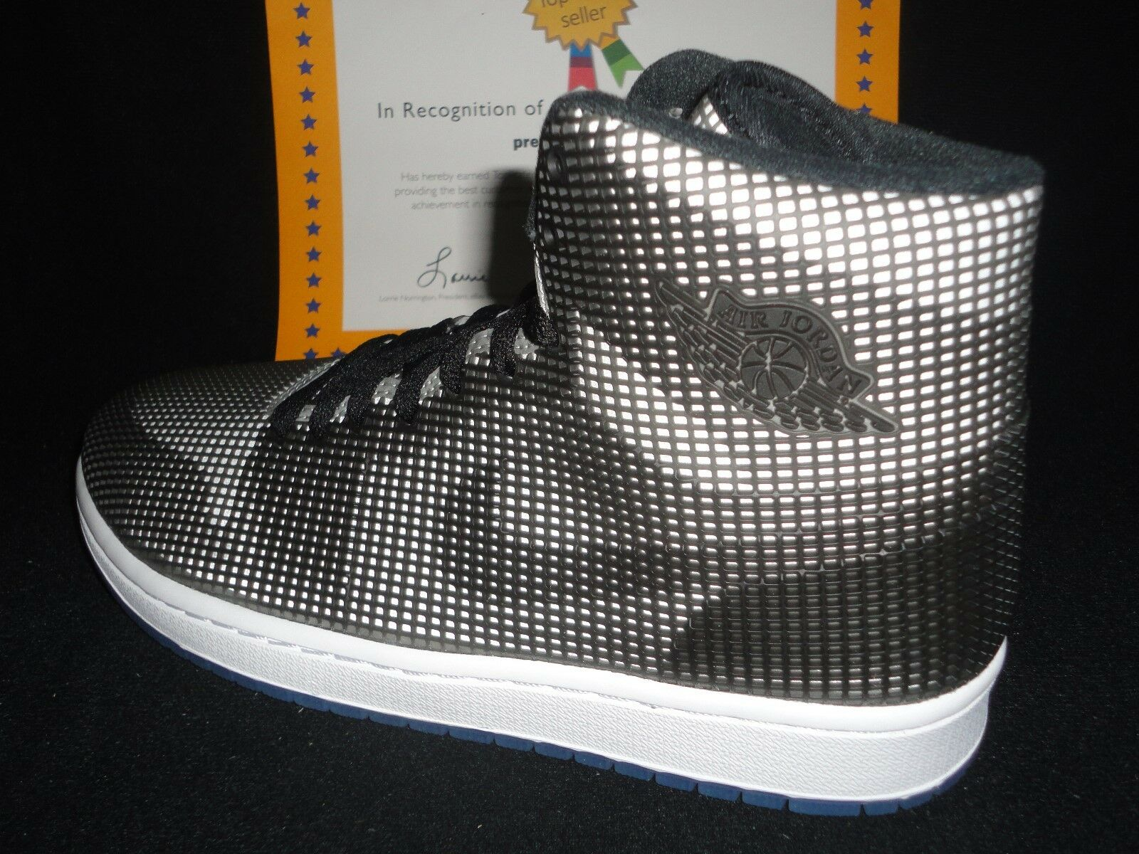 Nike air jordan 4lab1, nero / riflettente siver, dimensioni