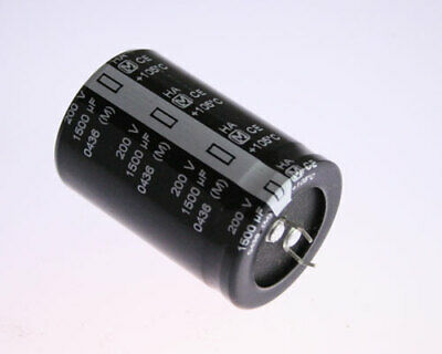 5x 1500uF 200V Radial Snap In Mount Electrolytic Capacitor 1500mfd 200VDC DC