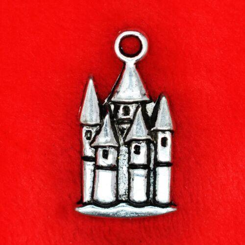 8 x Tibetan Silver Fairytail Disney Castle Harry Potter Charms Pendants Beads