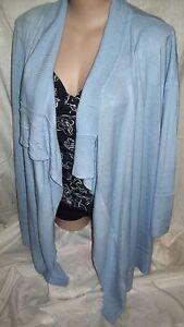 Autograph-Blue-Cashmillion-Lg-sleeve-knit-cardigan-jumper-jacket-L-20-22