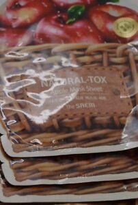 3x-Natural-Tox-TheSAEM-Apple-Mask-Sheet-Smoothening-amp-Brightening-20g-each
