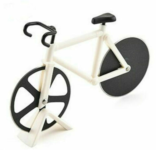 Pizza Cutter Road Bicycle Shape Chopper Slicer Stainless Steel Kitchen