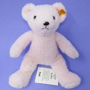 My-First-Steiff-Pink-Teddy-Bear-soft-toy-plush-baby-comforter-rosa-664717