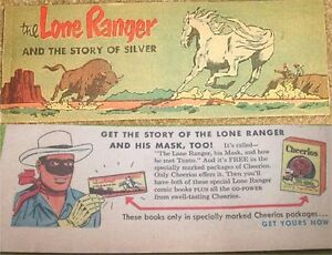 LONE-RANGER-THE-STORY-OF-SILVER-MINI-COMIC-PROMO-GIVEAWAY-CHEERIOS-CEREAL-VFNM