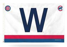 Chicago Cubs CUSTOM W w/Stripes Rico 5327 3x5 Flag Outdoor House Banner Baseball