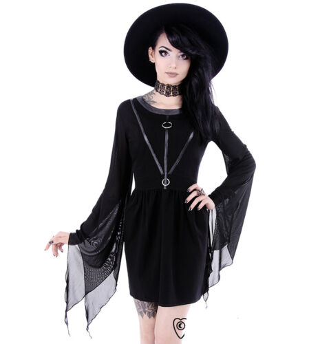 Restyle in Coven Xxl Vestito pelle gotico di cinturini nero Xs Taglie SrnZqS