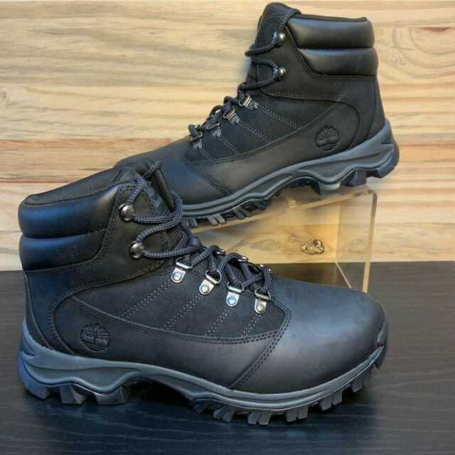 7abe51d8 Timberland Rangeley Men's Mid Leather Hiking Boots Black Size 9.5  TB09811R-001