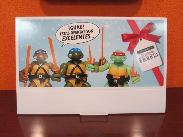 TEENAGE MUTANT NINJA TURTLES TMNT PLAYMATES HONDA CAR STORE TENT DISPLAY UNUSED