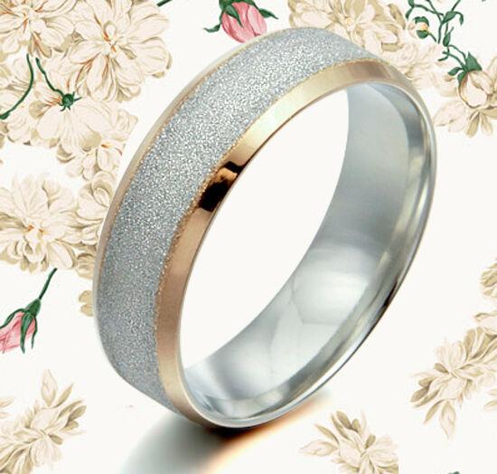 Sz6-16.5 Men Women 18K Gold Filled Titanium Wedding Ring MKUS008  8mm