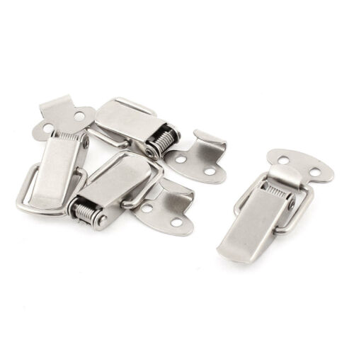 Suitcase Chest Boxes Metal Spring Loaded Toggle Latch Hasp Lock Locking 4pcs