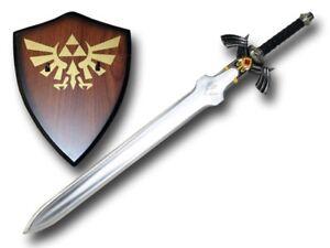 Carbon-Steel-Blade-Dark-Link-039-s-Master-Sword-from-the-Legend-of-Zelda-with-Plaque