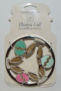 NEW-YANKEE-CANDLE-ILLUMA-BUNNY-EARS-EASTER-EGG-JAR-CANDLE-TOPPER-ACCESSORY-METAL
