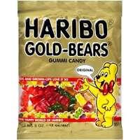 Haribo Gummi Bears - Four Pack - 5oz Bags Gold Bear Gummis Free Shipping