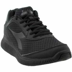 Diadora-Eagle-Casual-Running-Shoes-Black-Womens