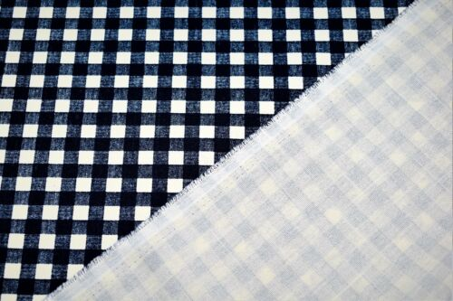 "6 Colours Canvas 100/% Cotton 45/"" Wide High Quality Gingham Print"