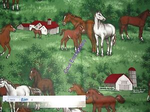 Horses-horse-cotton-quilting-fabric-Choose-design-amp-size