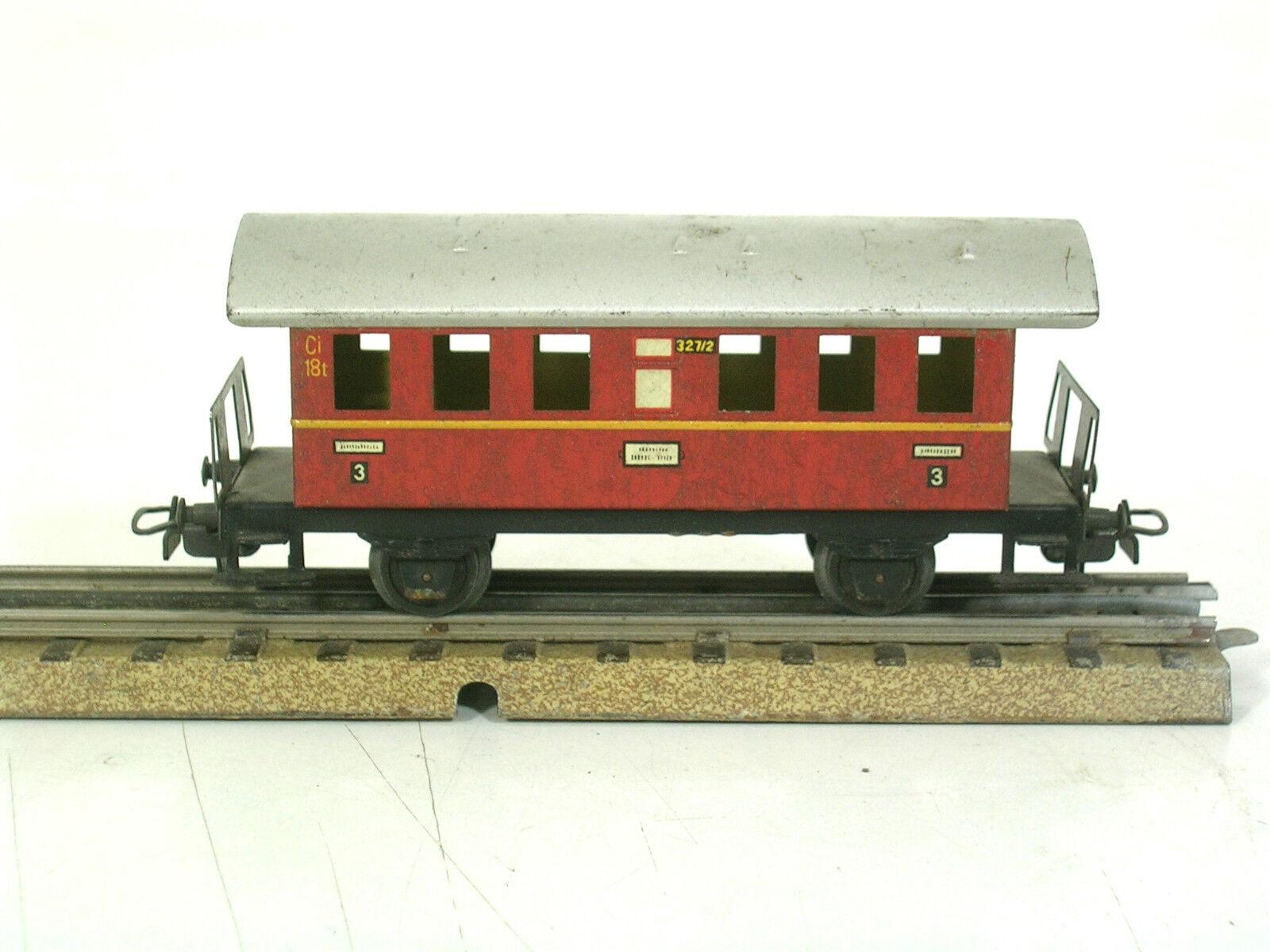Märklin H0 00 seltener Personenwagen 327 2 Donnerbüchse red zu S 870  800