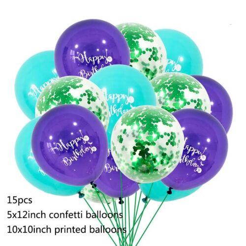 Mermaid Party Kids Latex Mermaid Balloons Wedding Birthday Glitter Confetti