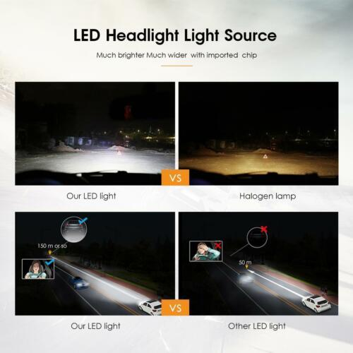 H4//H7//H11//9006//9005 360W 36000LM LED Headlight Kit Car Bulbs 6500K White VS HID