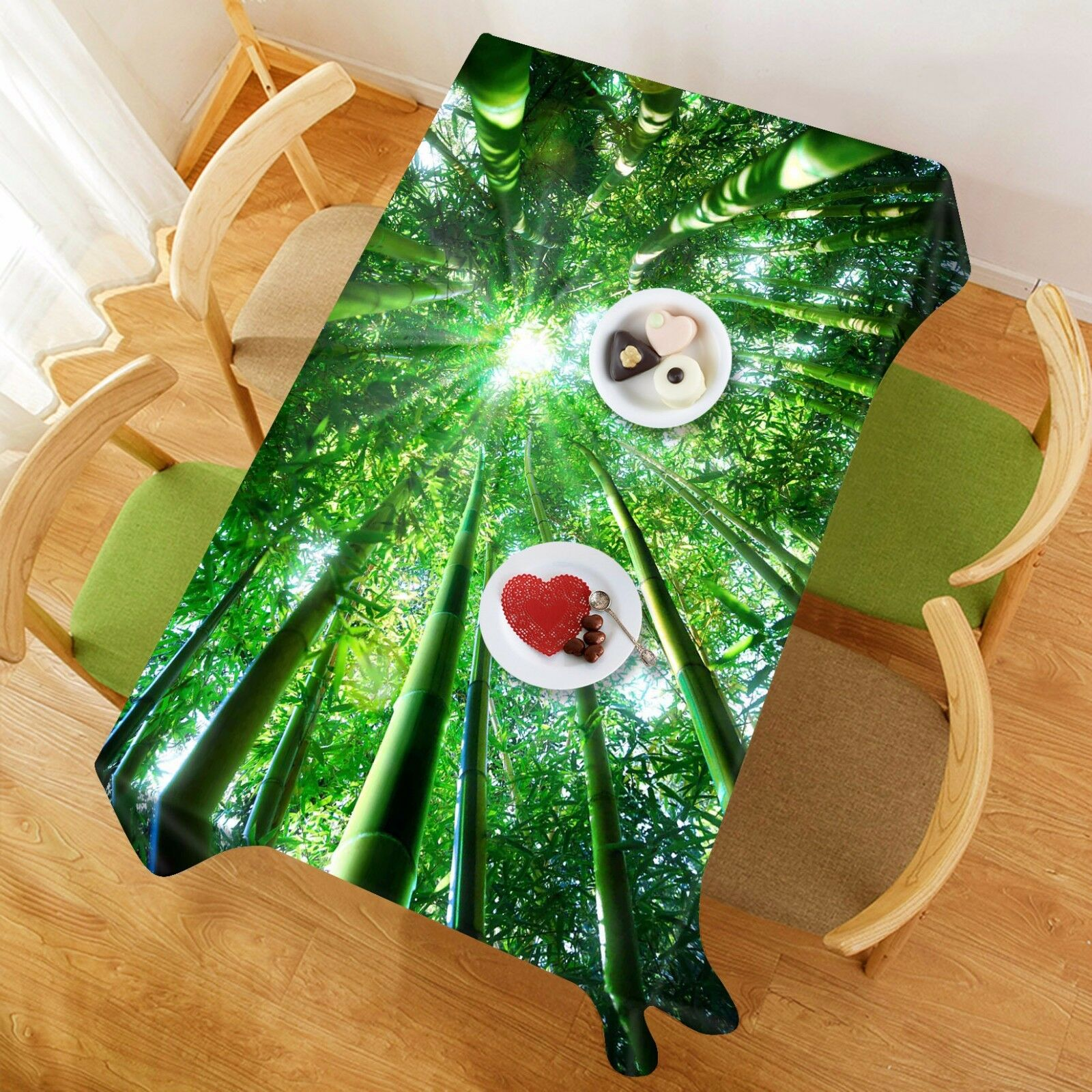 3D Sun wood 73 Tablecloth Table Cover Cloth Birthday Party Event AJ WALLPAPER UK