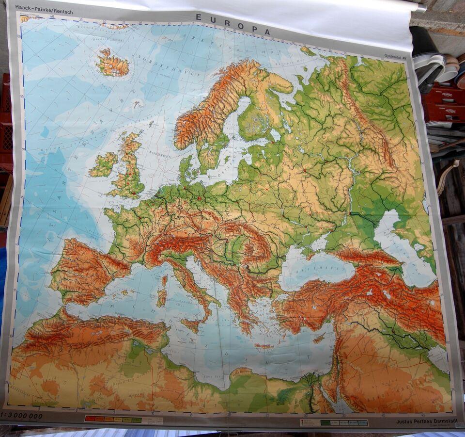 Landkort, Skole kort Europa