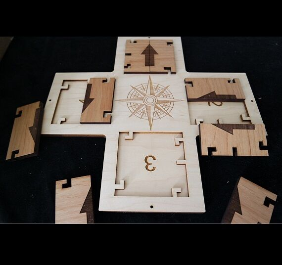 Puzzle to Use with Directional Locks - Compass Style - Escape Room Puzzle and Pr