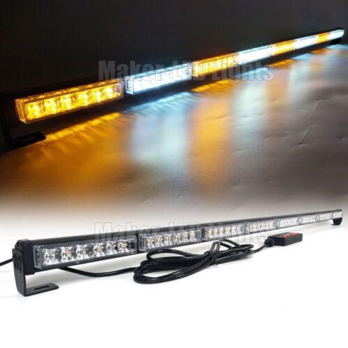 "50/"" Light Bar LED Traffic Advisor Warning Emergency Strobe Flashing Amber White"