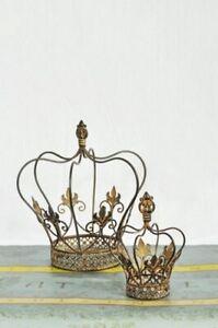Vintage-Koenigskrone-Krone-Crown-Dekokrone-Gold-Advent-X-Mas-H19cm-Shabby