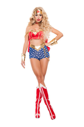 Sexy Starline Star Power Wonder Woman Superhero 5pc Costume