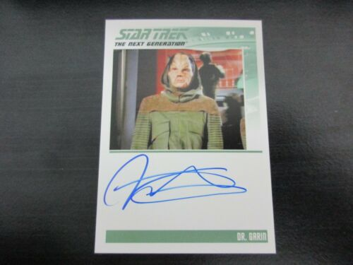 Star Trek TNG Portfolio Prints Series 1 Richard Cansino as Dr. Garin Autograph