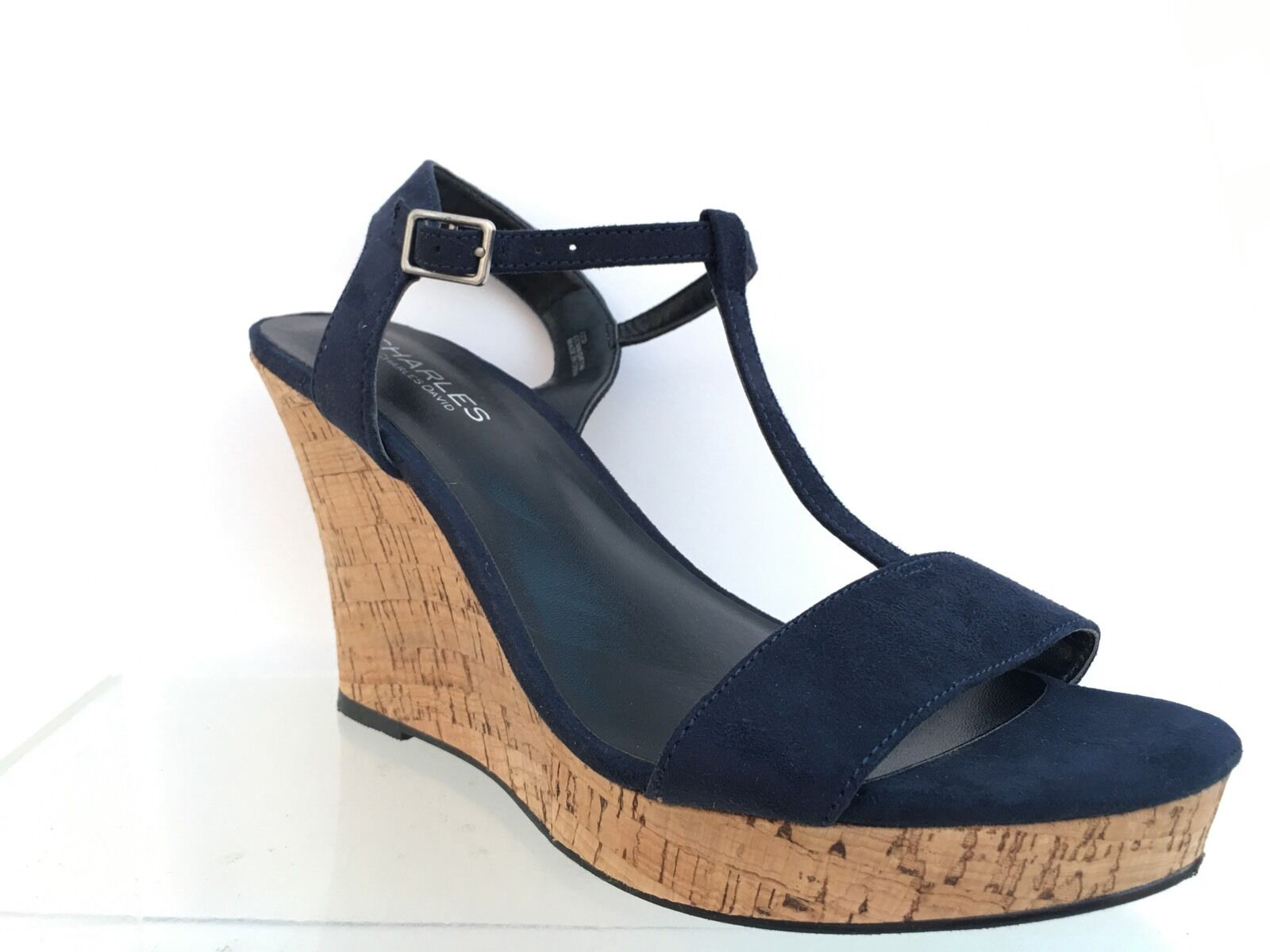 Charles By Charles David Espadrille Wedge Sandal chaussures bleu 8.5