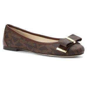 New-Michael-Kors-Kiera-Signature-Flats-Shoes-Brown-Size-6-8-5