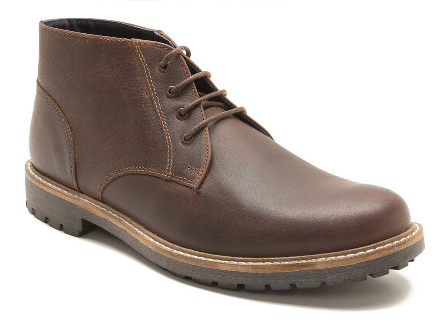 Red Tape Langdale Men's Wood Brown Leather Desert Boots