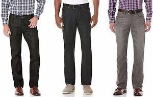 Perry-Ellis-Jeans-Mens-Slim-Fit-Tapered-Straight-Leg-Low-Rise-Five-Pocket-Denim